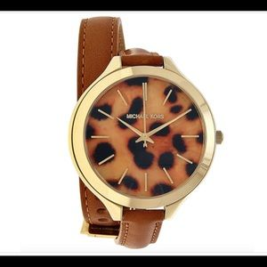 MICHAEL KORS Ladies Cheetah Print Watch NIB
